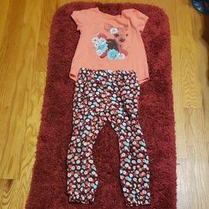 Girl pajamas set